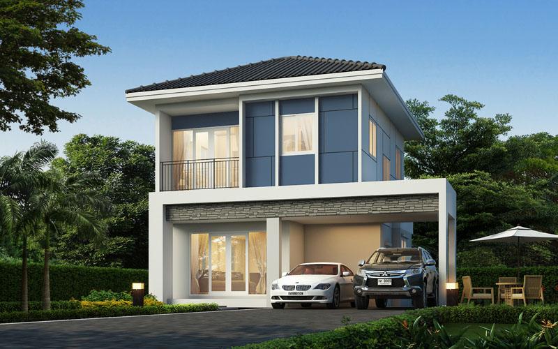 บ้านแฝด 2 ชั้น - โครงการบ้านวนาอินทาวน์